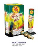 Three Shell Artillery Shell Fireworks with Mortar Tube