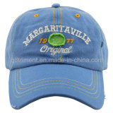 Grinding Washed Contrast Stitching Embroidery Twill Sport Baseball Cap (TMC0086)