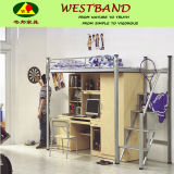 Steel Bunk Bed with Computer Desk and Clothes Cabinet for Student Use Wb-SD03