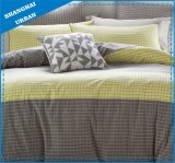 6 Piece Plaid Design Polyester Comforter Set