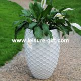 Fo-319 Fiberglass Flower Pot for Home Garden