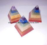 Semi Precious Stone Natural Crystal Amethyst Pyramid Charming Ornament
