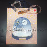 Beautiful Christmas Gift Bag with High Quality Plastic Clear Cover