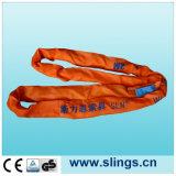 "100% Polyester Lifting Sling Heavy Duty Safety Belt 4""X10m"