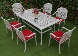 Outdoor Patio 7 Pieces Cast Aluminum IVY Dining Furniture Set with L68inch*W35.5inch Rectangle Table