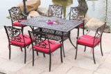 Best Choice Products 7PC Outdoor Patio Dining Table Set with Rectangle Table, 6 Chairs