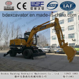 8.5 Tons New Yellow Small Baoding Earth Moving Machinery Wheel Excavator for Sale
