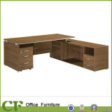 L Shape Melamine Laminated Office Executive Table with Side Cabinet