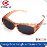 Stark Purple Myopia Glasses Frame Cheap Clip on Sunglasses UV Protective Traving Volleyball Driving Fishing Black Lens