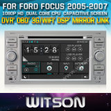 Witson Car DVD for Ford Focus 2005-2007 Car DVD GPS 1080P DSP Capactive Screen WiFi 3G Front DVR Camera