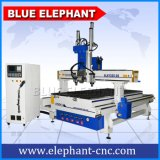 1325 4 Axis Multi Spindle Wood CNC, CNC 1325 Atc, 5D CNC Machine for Kfc Door Window Cabinet Stair Chair