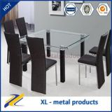 8 Seaters Square Curved/Bent Glass Table Set