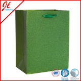 Latest Green Luxury Gift Bag Carrier Paper Bags Shopping Paper Bags with Heavy Glister Powder