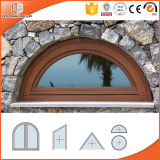 Non-Thermal Break Aluminum Arched Windows with Tempered Glass