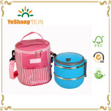 Round Shape Food Lunch Cooler Bag for Office Use