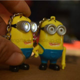 Hot Sale Despicable Me Minions LED Torch Keychain (LKC013)