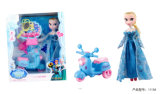 Music Motorbike with Light and 9cun Pretty Princess Kids Toy
