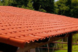 Plastic Roof Tiles Terracotta Color