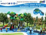 Green Tree Feature Outdoor Children Playground Hf-10802