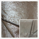 Foil Gold Treatment Suede Fabric for Sofa