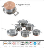 12PCS Stainless Steel Copper Base Cookware Set