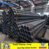 Q235B Q345b ERW Schedule 40 Black Round Steel Pipes