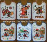 100% Cotton Logo Printed Baby Bibs (PM084)