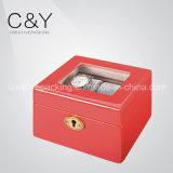 Luxury Fashional Red Wooden Watch Box