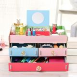 Factory New Style Super-Large Cosmetic Storage Box, DIY Wooden Desktop Storage Box