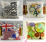 Linen-Like Digital Printed Cushion Cover