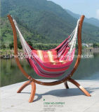 Wood Frame Pure Cotton Rope Canvas Outdoor Hammock Chair