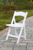 White Resin Party Folding Chair at Event