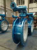 API/DIN/GOST Cast Steel Dn600 Py25 Eccentric Butterfly Valve