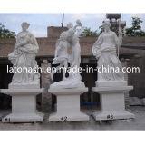 White Marble Art Figure Carving Sculpture / Statue for Garden, Landscape