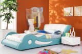 The Most Popular Modern Dolphin Design Children Leather & Fabric Bed (HC003)