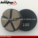 D80mm Hook & Loop Backing Ceramic Bond Abrasive Pad for Concrete