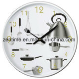 The Wall Clock with Pictures Background in Hot Design for Home Decoration