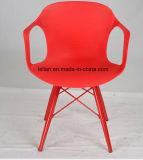 Polypropylene Modern Stackable Arm Chair with Metal Leg (LL-0048A)