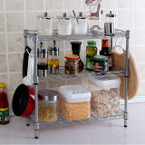 Modern Carbon Steel Chrome Mini Kitchen Rack