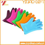 Custom High Quality Colorful Silicone Cooking Gloves, Oven Mitts (YB-AB-016)