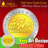 Custom Metal 24k Pure Gold Souvenir Coins/. 999 Pure Silver Coin/Antique/Gold and Silver Color Challenge Coins/Copy Coin Factory/Manufacturer in China