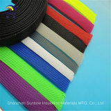 Wholesales RoHS UL Polyester (PET) Braided Expandable Cable Mesh Tube Sleeve, Plastic Cable Sleeve, Flexible Briad Sleeve