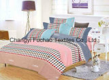King Size Printed Microfiber Quilt Cover Faric for Bedding Set