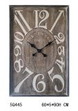 Antique (vintage) Rectangular Wall Wooden Clock for Home Decoration