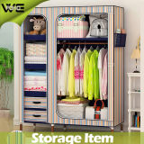 portable Stripe Fabric Home Furniture Best Canvas Wardrobe