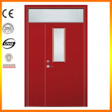Fire- Rated Steel Door with Glass and Panic Bar