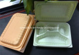 800ml 4 Compartment Hinged Disposable Plastic Lunch Box