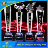 OEM Customized Sports Awards Crystal Trophy Cup/Metal Medallion with Free Design