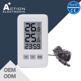 Indoor Outdoor Digital Desk Thermometer with Time and Humidity