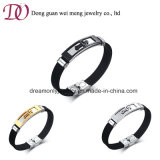 Wholesale Cheaper Price Stainless Steel Silicone Cross Bracelet